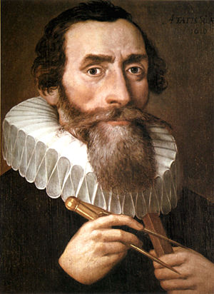 A 1610 portrait of Johannes Kepler by an unkno...