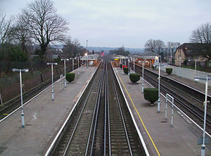 English: South Croydon station looking south f...
