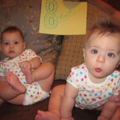 The Warheit Twins are 8 months old!  This was a very funny photo shoot.
