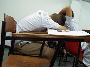 Sleeping when studying - Nakhon Sawan, Thailand